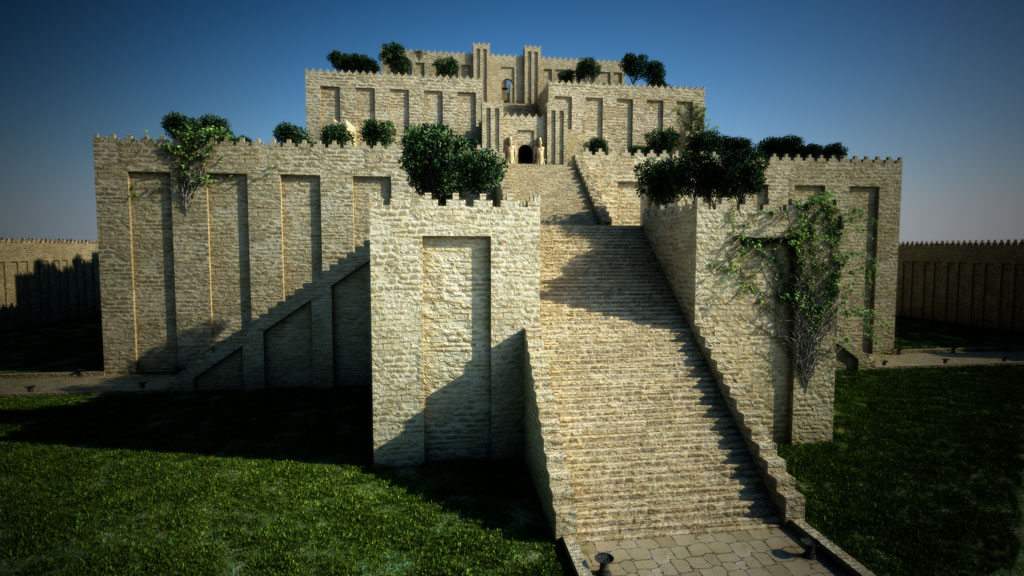 The Hanging Gardens Of Babylon Decoration Pinterest